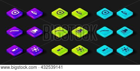 Set Bullet, Hexagram Sheriff, Police Rubber Baton, Suspect Criminal, Sheriff Hat With Badge And Icon