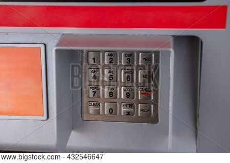 Pin Keypad On An Atm Or Gas Station