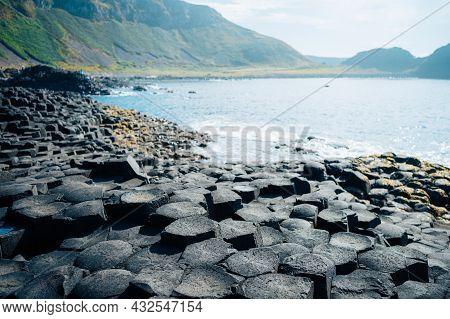 Giants Causeway With Its Iconic Basalt Columns. County Antrim, Ulster Region, Northern Ireland, Unit