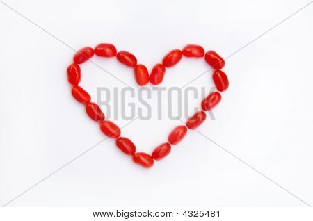 Red Jelly Bean Heart