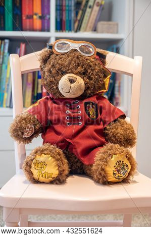Calgary, Alberta - July 29, 2021: A Harry Potter Themed Build A Bear In A Child's Room.
