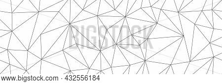 Seamless Vector Linear Pattern Forms Triangles. Vector Illustration For Textures, Textiles, Simple B