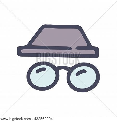 Private Browsing Color Vector Doodle Simple Icon