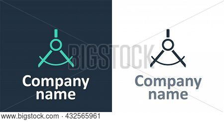 Logotype Drawing Compass Icon Isolated On White Background. Compasses Sign. Drawing And Educational