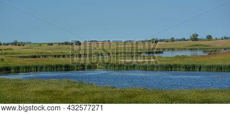Beautiful Wetlands Of Hamden Slough On The Detroit Lakes In Audubon, Becker County, Minnesota
