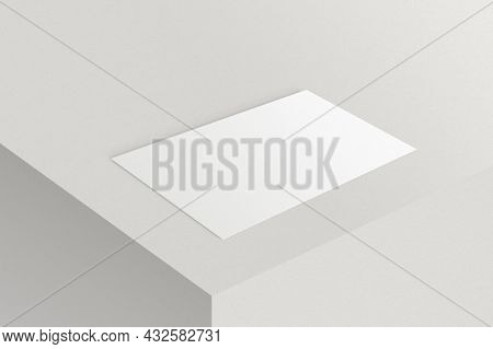 Blank customized white business card