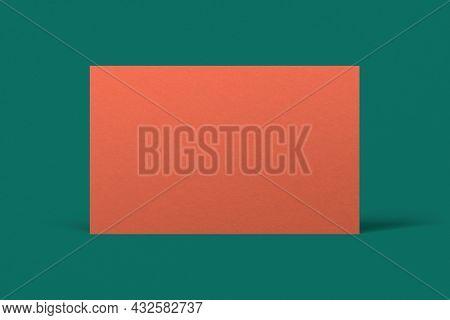 Blank customized orange business card