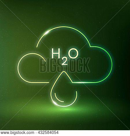 Raining cloud icon environmental conservation symbol