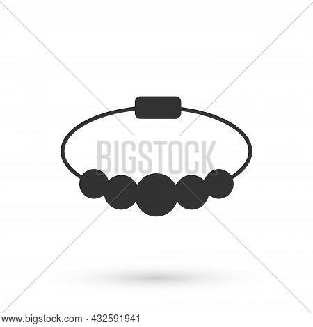 Grey Bracelet Jewelry Icon Isolated On White Background. Bangle Sign. Vector