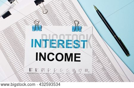 Business Acronym Nii - Net Interest Income. Yellow Paint Line On The Road Against Asphalt Background