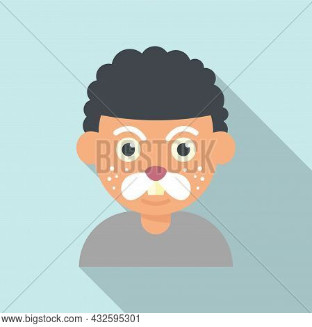 Mouse Face Painting Icon Flat Vector. Kid Mask. Child Painting