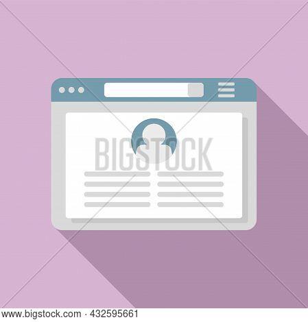 Browser Frame Icon Flat Vector. Computer Window. Internet Website