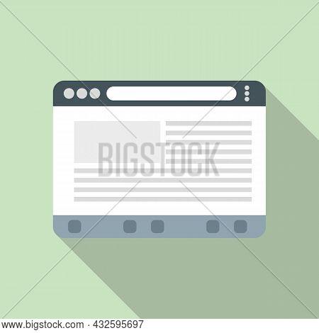 Website Browser Icon Flat Vector. Computer Internet. Web Screen