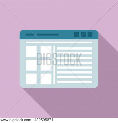 Browser Site Icon Flat Vector. Window Bar. Frame Interface
