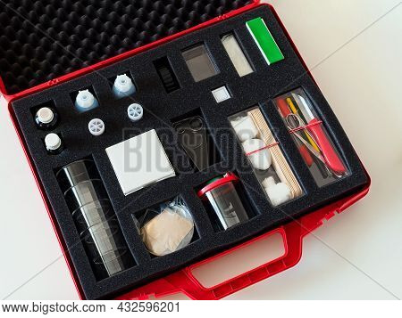 Biology Research And Experiment Student Set In A Briefcase