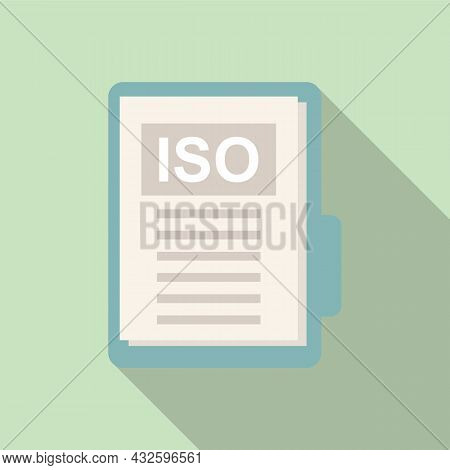 Standard Compliance Icon Flat Vector. Policy Quality. Regulatory Iso