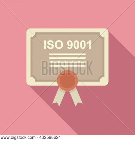 Standard Process Icon Flat Vector. Policy Compliance. Law Iso