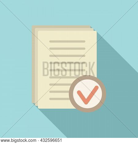 Standard Regulation Icon Flat Vector. Policy Quality. Test Rule