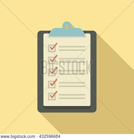 Legal Standard Icon Flat Vector. Quality Compliance. Law Process