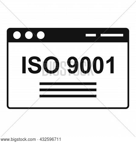 Iso Standard Icon Simple Vector. Quality Policy. Compliance Regulatory
