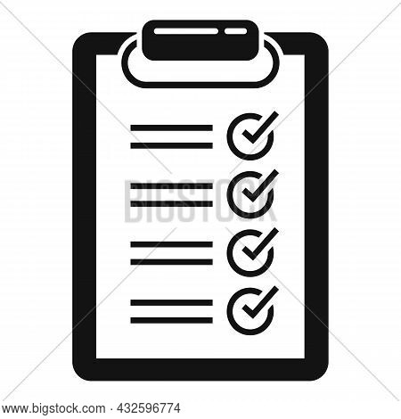 Standard Clipboard Icon Simple Vector. Policy Quality. Compliance Regulatory