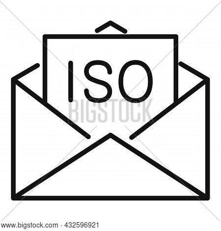Iso Standard Icon Outline Vector. Quality Policy. Compliance Regulatory