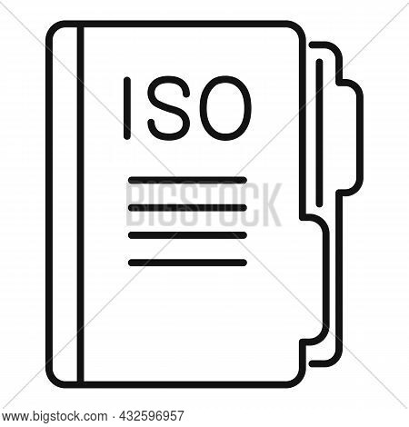 Standard Iso Mail Icon Outline Vector. Policy Quality. Compliance Business