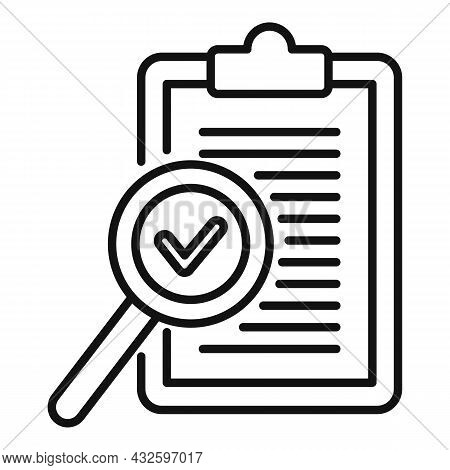 Standard Process Icon Outline Vector. Policy Compliance. Law Iso