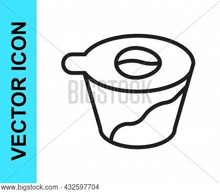 Black Line Pour Over Coffee Maker Icon Isolated On White Background. Alternative Methods Of Brewing