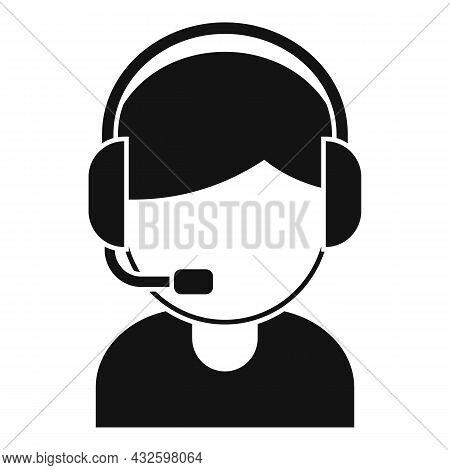 Child Streamer Icon Simple Vector. Live Stream. Video Broadcast