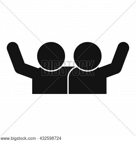 Trust Salute Icon Simple Vector. Deal Hand. Business Teamwork