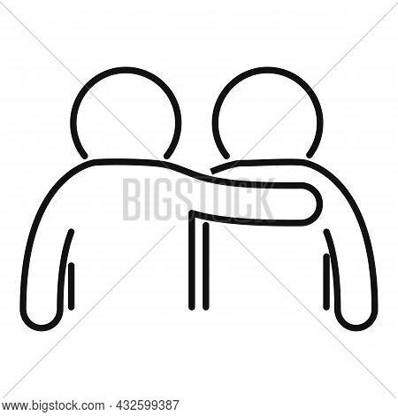 Friend Trust Icon Outline Vector. Deal Hand. Work Partner