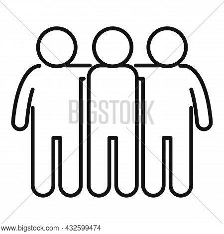 Trust Community Icon Outline Vector. Handshake Partner. Job Partnership