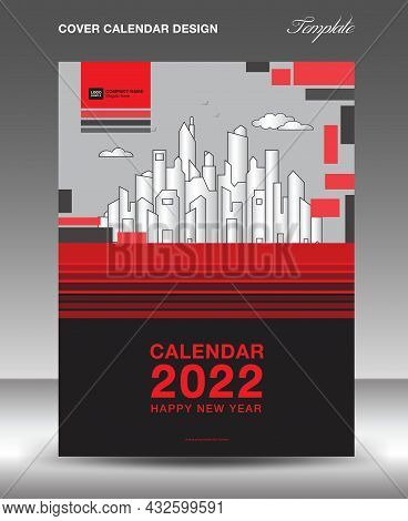 Cover Design Vector For Calendar 2022 Template, Flyer, Brochure, Annual Report, Book, Magazine, News