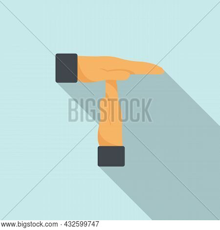 Referee Time Out Sign Icon Flat Vector. Soccer Card. Penalty Judge