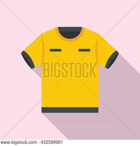 Referee Tshirt Icon Flat Vector. Foul Game. Sport Judge