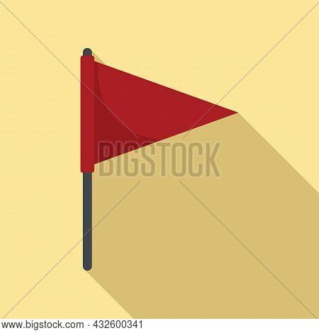 Pitch Flag Icon Flat Vector. Soccer Stadium. Corner Football