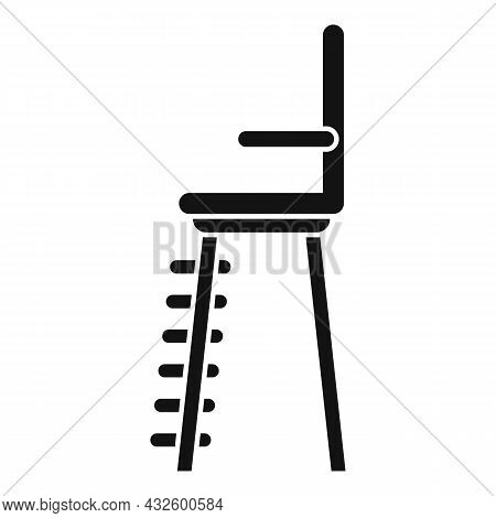 Volleyball Referee Seat Icon Simple Vector. Tennis Chair. Umpire Lifeguard