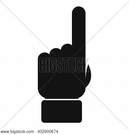 Referee Finger Sign Icon Simple Vector. Penalty Judge. Sport Game