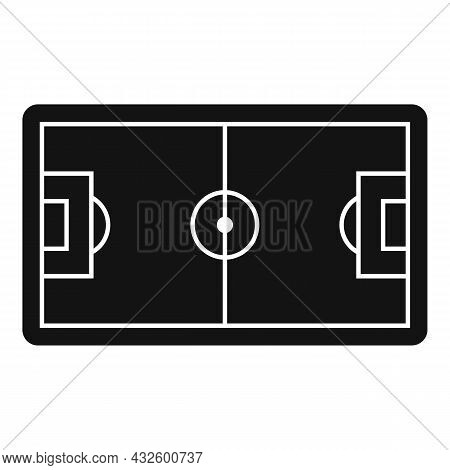 Football Field Icon Simple Vector. Soccer Pitch. Top Stadium