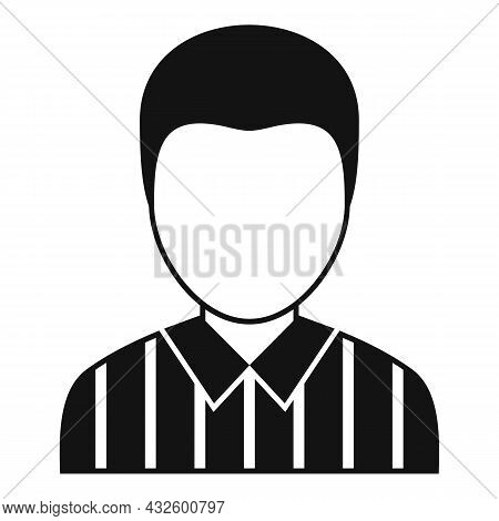 American Football Referee Icon Simple Vector. Whistle Penalty. Sport Judge
