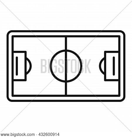 Soccer Field Icon Outline Vector. Stadium Pitch. Top Football Match