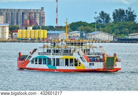 Labuan,malaysia-aug 26,2021:the Shuttle Hope Is Ferry Services Between  Brunei And Labuan Island,mal