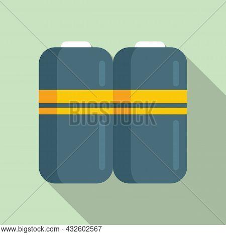 Full Battery Icon Flat Vector. Phone Energy. Power Lithium