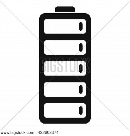 Accumulator Energy Icon Simple Vector. Full Battery. Lithium Power