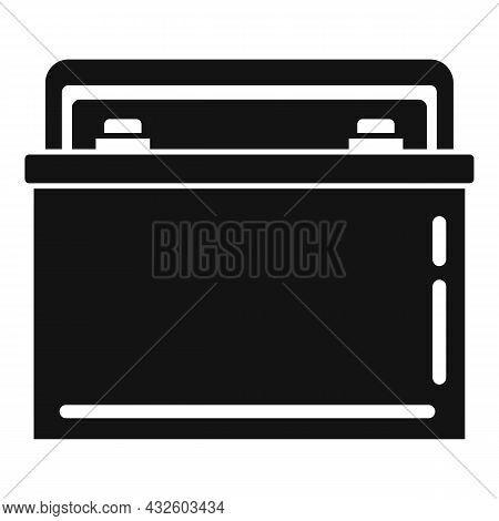 Car Battery Charger Icon Simple Vector. Full Energy. Lithium Power