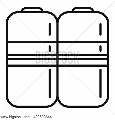Battery Charge Icon Outline Vector. Energy Full. Phone Lithium