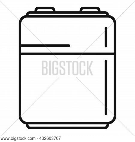 Accumulator Energy Icon Outline Vector. Full Battery. Lithium Power