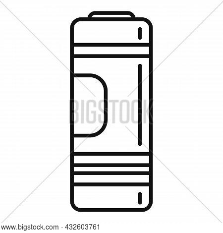 Full Cell Battery Icon Outline Vector. Phone Energy. Recharge Power