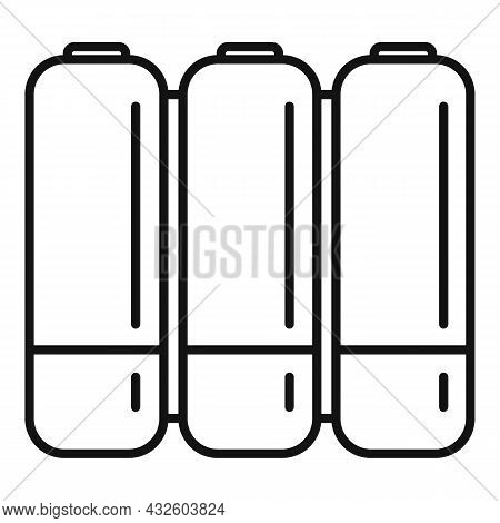 Aaa Battery Icon Outline Vector. Lithium Power. Cell Electric